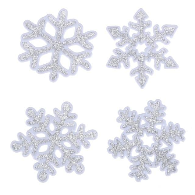 Merry Christmas Snowflake Wall Stickers Home Showcase Windows Decals Decoration for Home Shop Glass Window Stickers