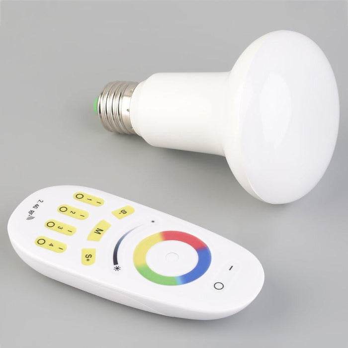 Portable 2.4G Wifi Night Light Remote Controll RGBW Lamp 6W 9W E27 LED Bulb