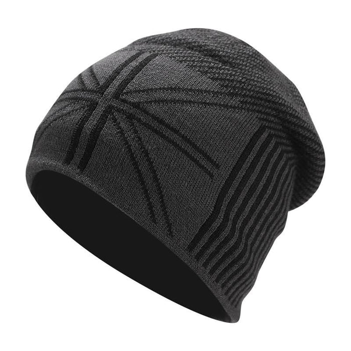Wool Skullie Beanie Hat With Fleece Men Winter Knitted Hats Fashion Women Slouchy Beanies Cap Outdoor Warm Wool Soft Knit Caps