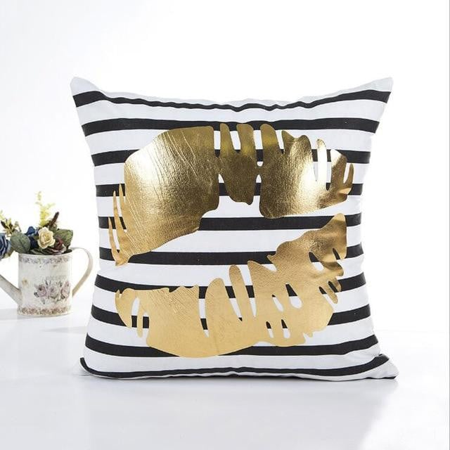 MIHE Christmas Cushion Cover Decorative Pillow Case Eco-Friendly Gold Sofa Seat Case Car Pillowcase Soft Bed Pillow Case BZT08