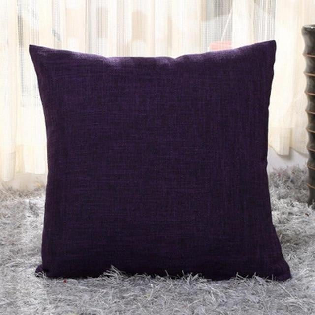 Solid Color Cushion Cover Home & Car Decor Pillowcase