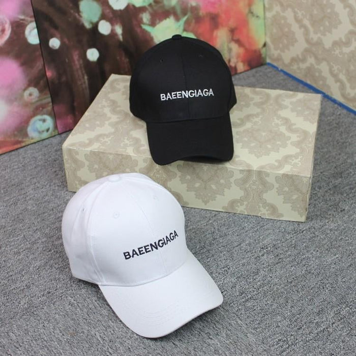 Outdoor shade letters embroidered BAEENGIAGA casual couple hat