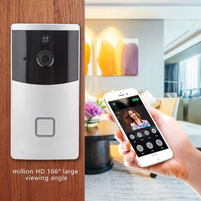 WiFi Wireless Video Camera Door Bell Device Phone Doorbell Intercom APP  Remote Control PIR Motion Detection IR Night Vision for IOS Android