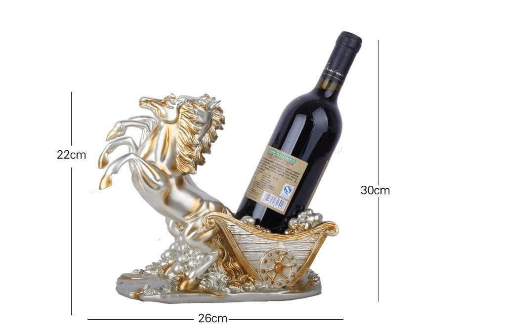 26 X 14 X 22CM Resin crafts European champagne double horse car wine rack decoration home living room wine cabinet #96099Y Boughtit.ca Home & Décor - Boughtit.ca