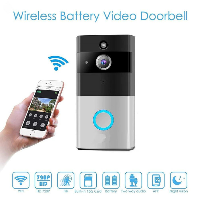 2.4G WiFi Wireless Video Camera Door Bell Phone Doorbell Intercom APP Remote Control PIR Motion Detection IR Night Vision for IOS and Android Boughtit.ca Electronics - Boughtit.ca