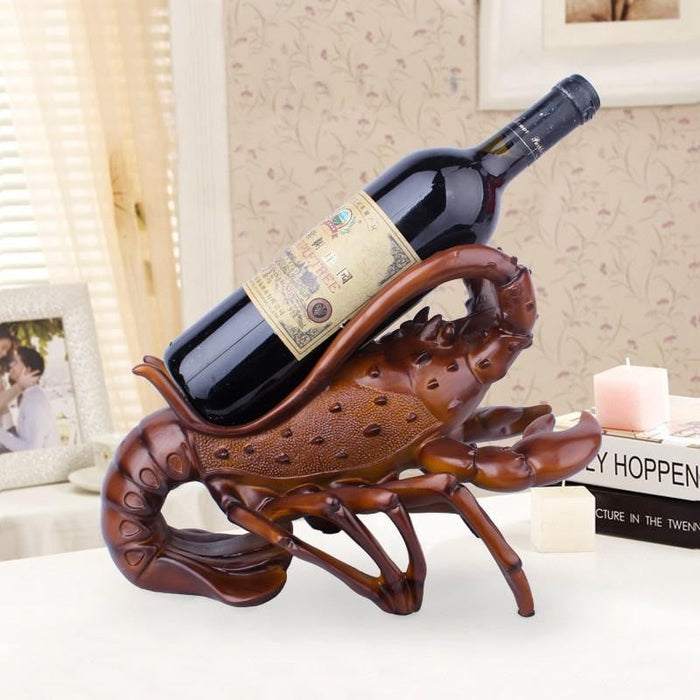 30 X 20.5 X 21.5CM Resin Crafts Silver Big lobster wine Rack Restaurant window Decoration wine Cabinet #76060 Boughtit.ca Home & Décor - Boughtit.ca