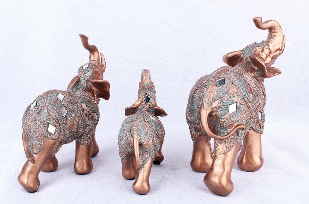 Crafts resin European style Brown family decoration elephant Ornaments Home Accessories #75025 Boughtit.ca Home & Décor - Boughtit.ca