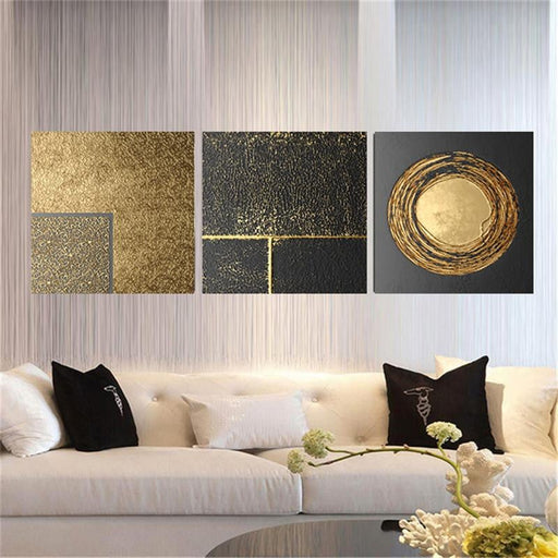 Nordic Black & Gold Painting