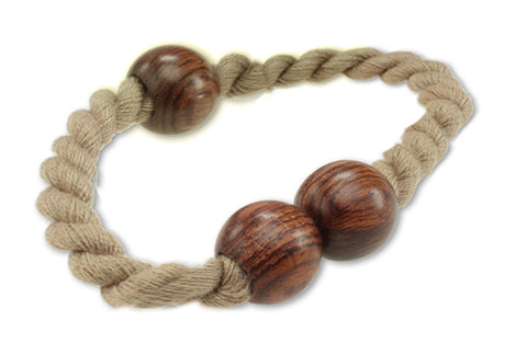 """Ubelda"" Hand Twisted Thread and Wood Bracelet with Magnetic Closure"
