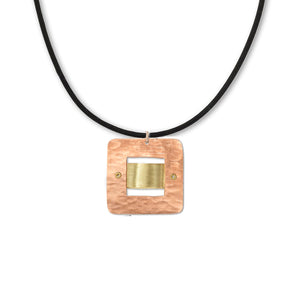 """Lean""  Machine Inspired Pendant Necklace on Silicon Cord - Tigereye"