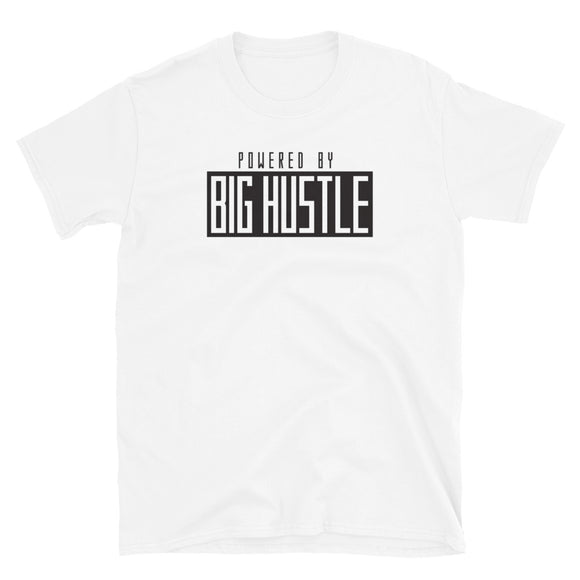 Powered By Big Hustle White T-Shirt