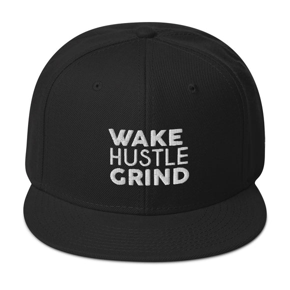 Wake Hustle Grind x Big Hustle Snapback Hat