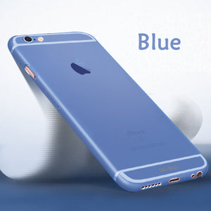 Esamday Genuine 0.3mm Ultra Thin Slim Matte frost Translucent Case For iPhone 6 6s Plus 7 7Plus 8 8Plus Protector Cover Shell