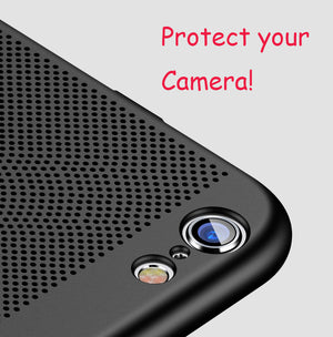 Esamday Heat Dissipation Phone Cases For iPhone 6 6Plus 6s 6sPlus 7 7Plus 8 8Plus iPhone X 5 5s SE Hard Back PC Protect Cover