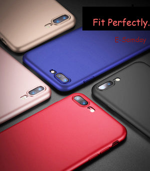 Esamday Matte Luxury Back Soft Silicon Case For iPhone 7 Cases 6 6S Plus 7 8 Plus  Candy Full Cover For iPhone X 5 5s SE