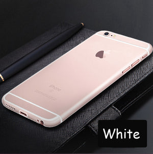 Esamday Matte Ultra thin Transparent 0.3mm Back Full Case For iPhone 7 8 Plus 6 6s Plus 5 5s SE PC case Protective Cover