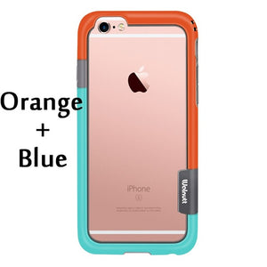 Esamday For iPhone 6s 4.7inch 6 Color Walnutt Soft TPU Hybrid Bumper Frame Case Cover Side Protection for iPhone 6 Wholesale