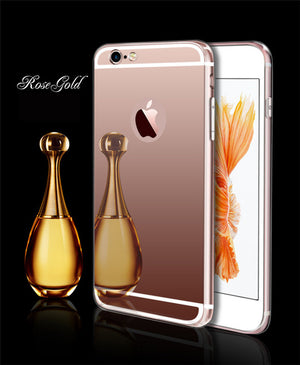 Esamday Luxury Mirror Electroplating Soft Tpu Cases For X 7 8 Plus Cover Protective cases For iPhone 6 6s 5 5s SE 6Plus 6sPlus