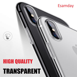 Luxury Ultra Thin Soft Transparent TPU Case For Apple iPhone X 8 8 Plus 7 Silicone Cover For iPhone 6 6 7 Plus 5 5s SE Phone Bag