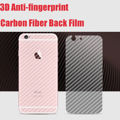3D Anti-fingerprint Screen Protector Transparent Carbon Fiber Back Film For iphone 7 8 plus 5 5s SE 6 6s 6plus Protective Guard