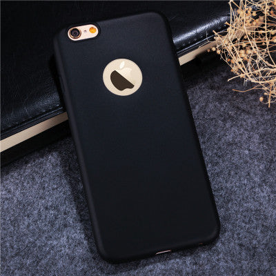 Esamday Candy color case for iphone6 6S 6Plus 6sPlus 7 8 7Plus 8Plus 5 5s SE Soft TPU Silicon phone cases Coque with logo window