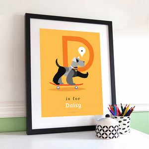 'D' Dog Print - Personalised