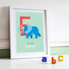 'E' Elephant Print - Personalised