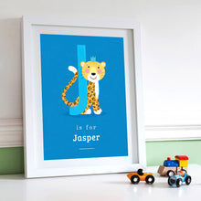 'J' Jaguar Print - Personalised