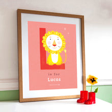 'L' Lion Print - Personalised