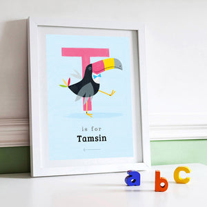 'T' Toucan Print - Personalised
