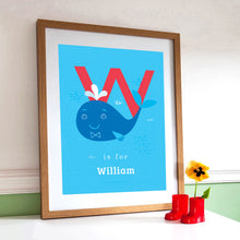 'W' Whale Print - Personalised