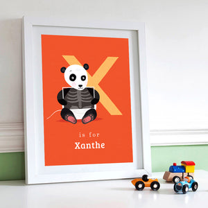 'X' X-Ray Panda Print - Personalised