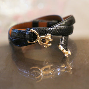 Black Leather Loop belt
