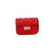 Fiery Red Quilted Sling Bag