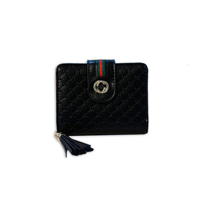 Engraved Two Tone Tassel  Wallet