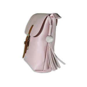 light pink satchel bag