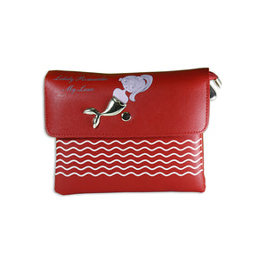 Red mermaid clutch