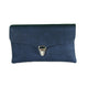 chrome blue clutch