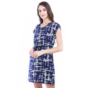 Graphic Blue Shift Dress
