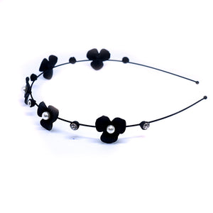 Black Floral Hair Band