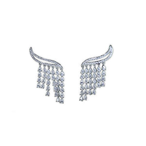 Silver Feather Stud