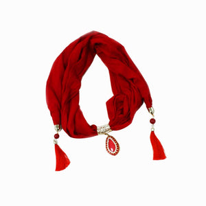 sizzling red Scarf