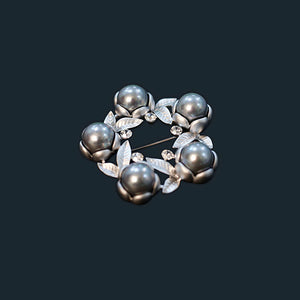 Floral Pearl Beads Brooch