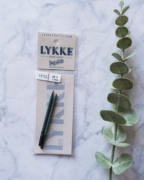 LYKKE Indigo 3.5'' (9cm) interchangeable knitting needle tips