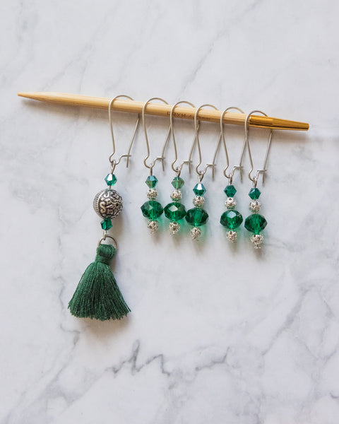 "Stitch Markers Set of 6 ""Oriental Princess"" 