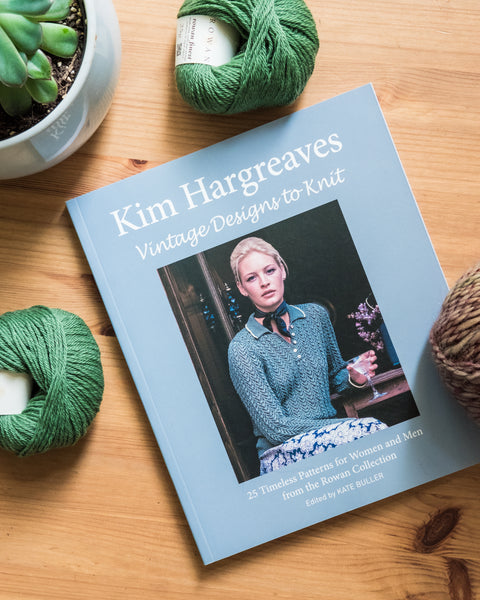 Vintage Designs to Knit by Kim Hargreaves knitting pattern book with 25 designs