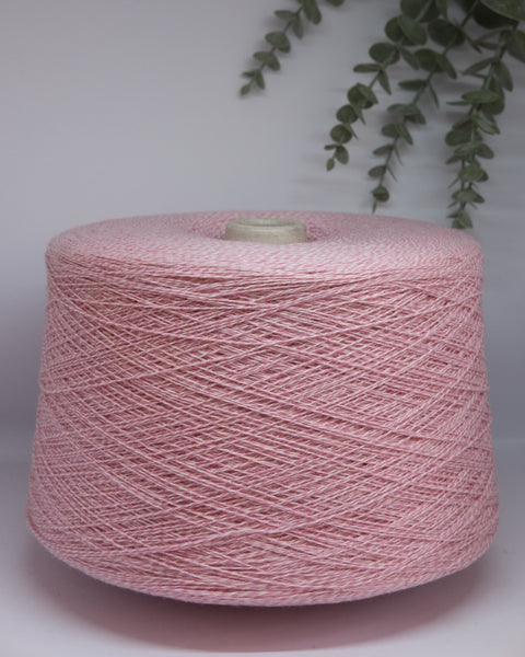 New Mill Velox Mouline (10% cashmere) | pink-white