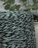 Shetland Lurex 80% wool | mint-black mouline