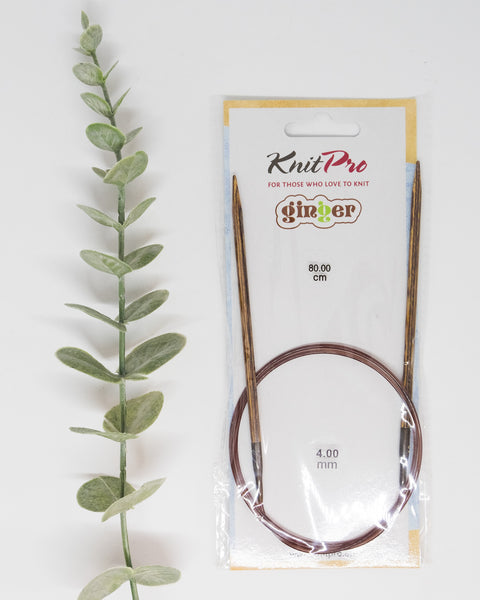 NEW! KnitPro Ginger | Fixed Wooden Circular knitting needles