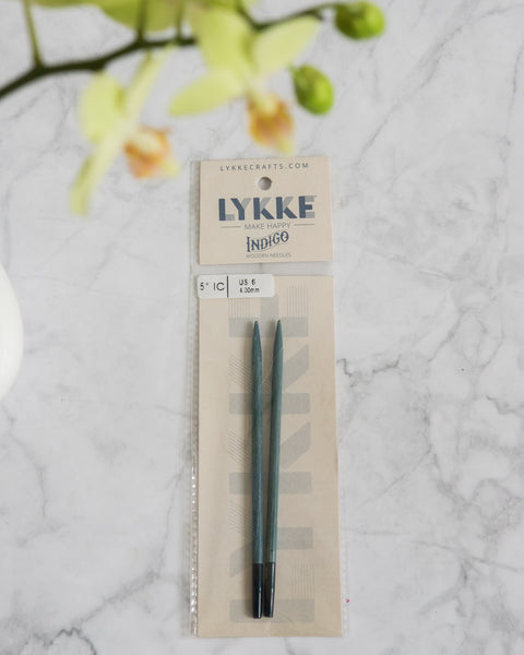 LYKKE Indigo 5'' interchangeable knitting needle tips
